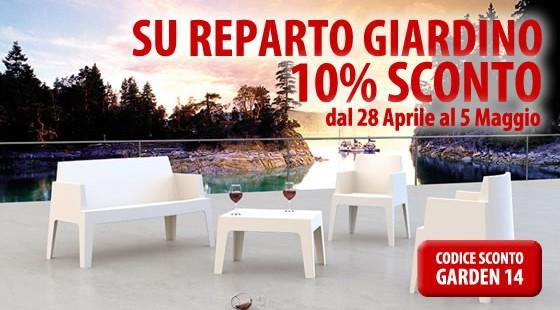 Promozione Sconto 10% Reparto Giardino