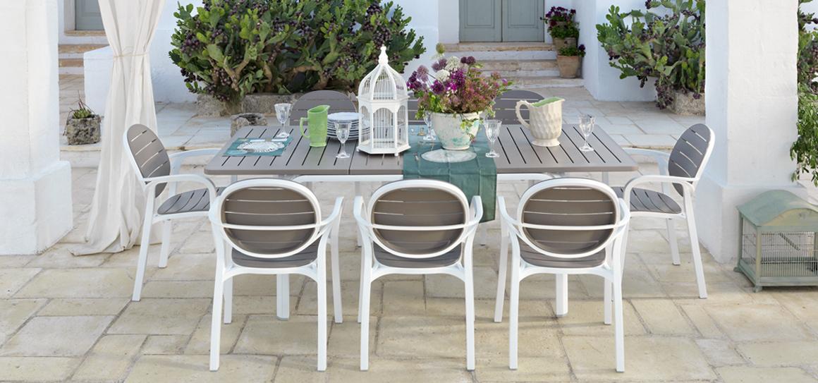 tavolo da pranzo in terrazza Nardi