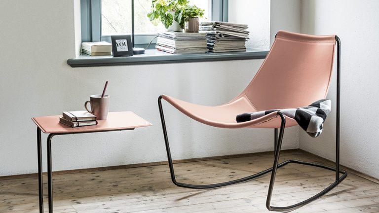sedia a dondolo di design
