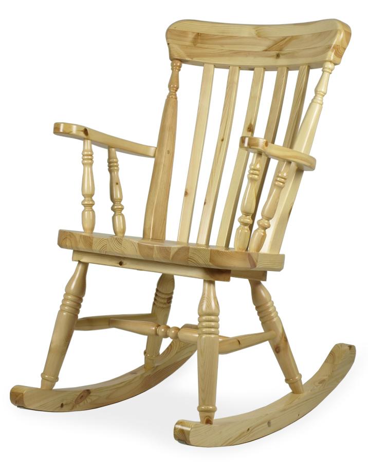 sedia a dondolo in legno classica