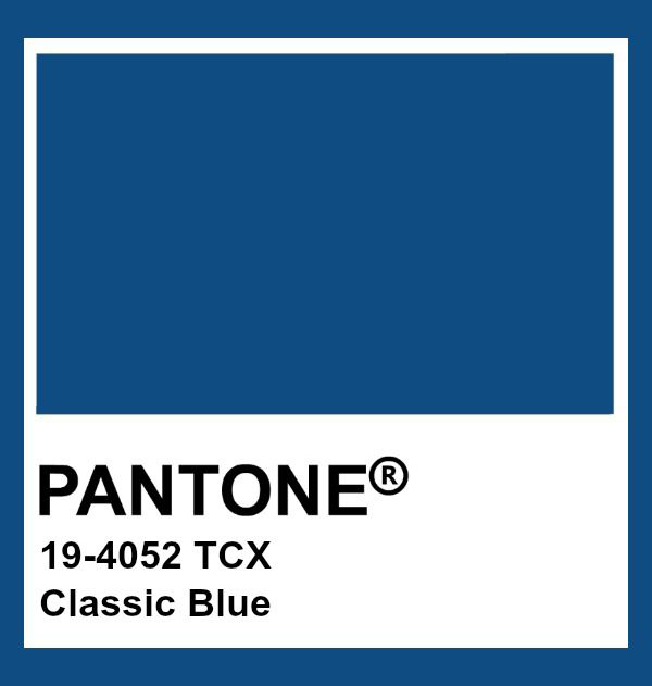 colore dell'anno 2020 pantone classic blue 19-4052